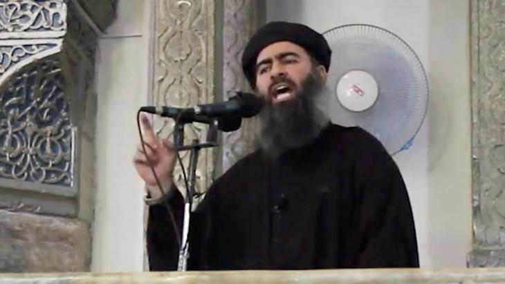 """قائد تنظيم """"الدولة الإسلامية"""" أبو بكر البغدادي. Foto: picture-alliance/AP"""