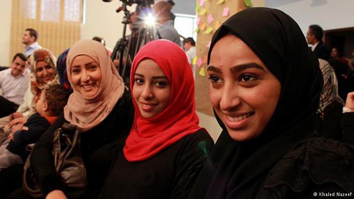 يمنيات مشاركات في الحوار الوطني الشامل في اليمن الذي استمر لمدة 10 أشهر (من مارس/ آذار 2013 وحتى يناير/ كانون الثاني 2014) في صنعاء.