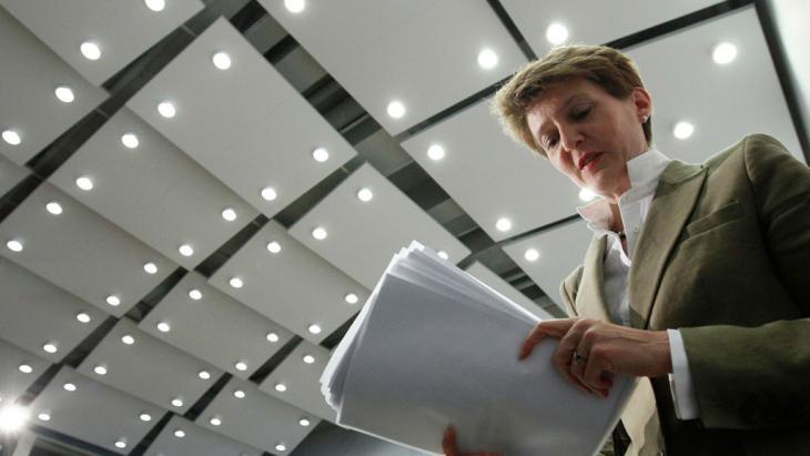 Schweizer Justizministerin Simonetta Sommaruga; Foto: Reuters