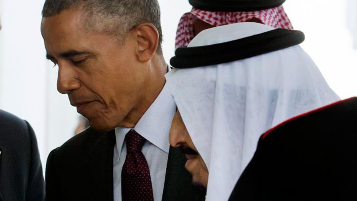 أوباما يستقبل الملك سلمان في واشنطن 04 / 09 / 2016. Foto: picture-alliance/epa/M. Reynolds