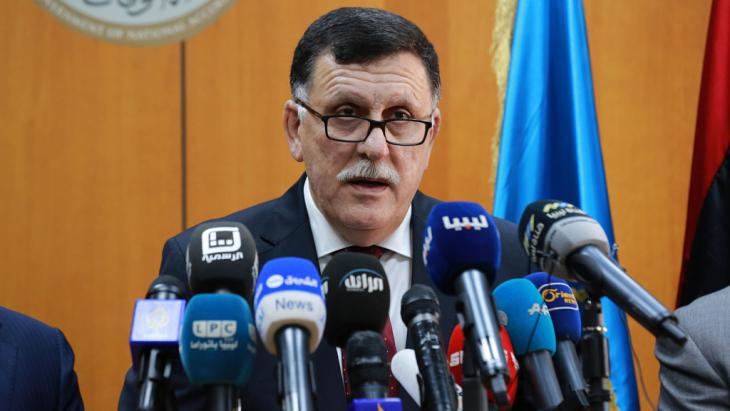 فايز السراج رئيس الوزراء الليبي. Foto: Getty Images/AFP/Str
