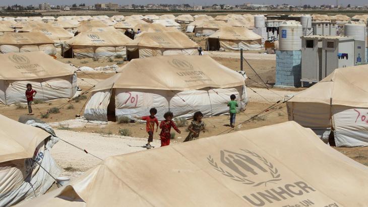 مخيم الزعتري للاجئين شمالِيّ الأردن . Foto: Reuters