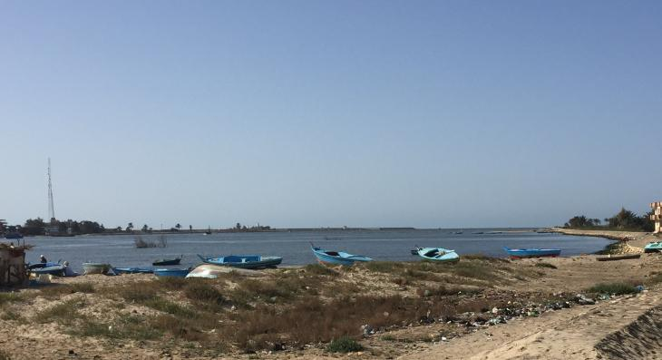 "Fishing boats awaiting the next ""mission"" on the seafront at Borg Meghezel (photo: Karim El-Gawhary)"