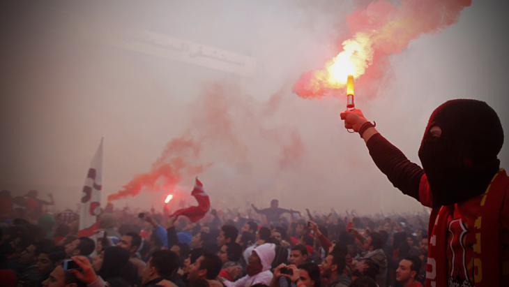 Al-Ahly-Ultras gedenken am 26. Januar  2013 in Kairo an das Massaker von Port Said; Foto: Reuters