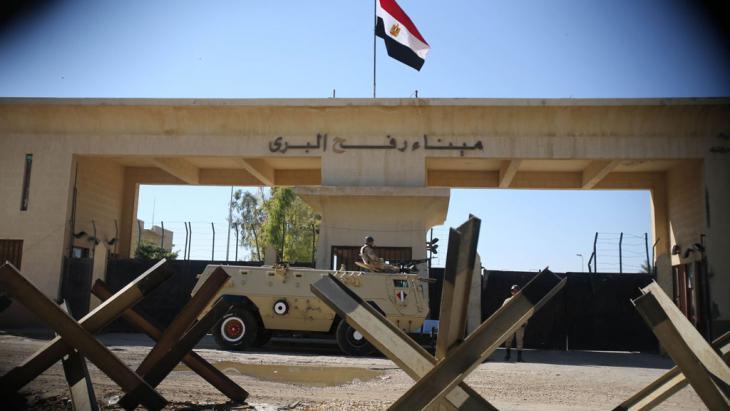 الحدود المصرية عند رفح. Foto: Reuters/I. Abu Mustafa
