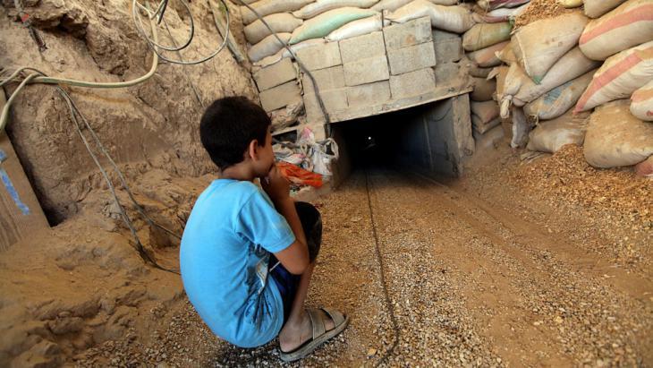 Tunnel zwischen dem Gazastreifen und Rafah; Foto: picture-alliance/dpa