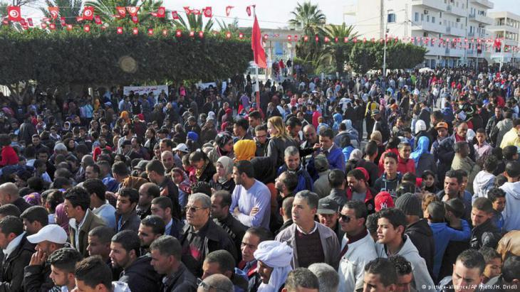 تظاهرة عام 2015 في ذكرى انطلاقة الاحتجاجات في تونس (أرشيف)