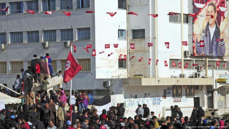 احتجاج شعبي في تونس