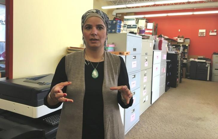 """ناريمان طه تعتبر نفسها """"مسلمة أمريكية"""". Foto: Canan Topçu"""