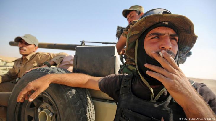 جنود عراقيون امام الموصل