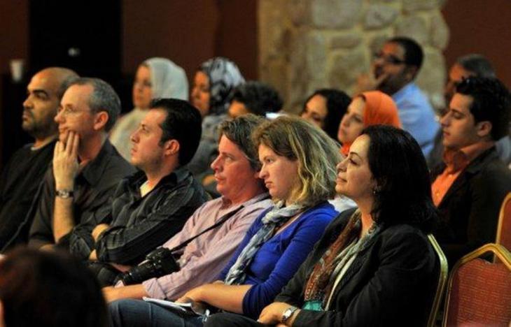 عشاق الموسيقى تمتعوا بألحان المايسترو العالمي دانييل بارينبويم خلال زيارة فرقة ديوان الشرق ـ الغرب لمدينة غزة في صيف 2012. الصورة شيرين سرحان اونرو