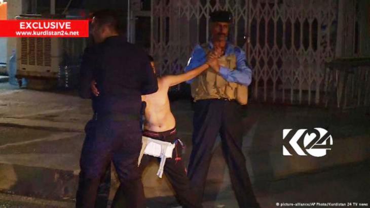 الطفل الذي قُبض عليه وبحوزته حزام ناسف بالقرب من مسجد للشيعة في مدينة كركوك.