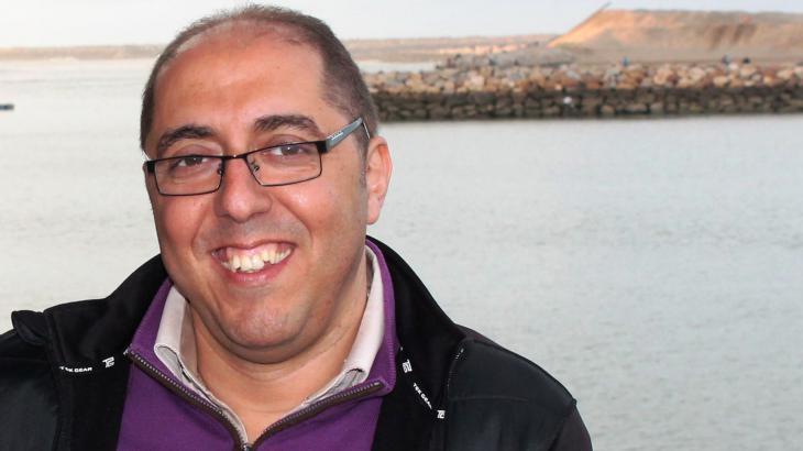 Hicham Aroud, Experte für Migration und Entwicklung in Rabat, Marokko; Foto: Martina Sabra