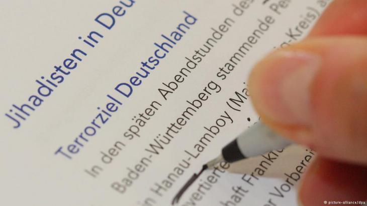 من تقرير  هيئة حماية الدستور الألمانية حول الجهاديين في إلمانيا. Foto: dpa/picture-alliance