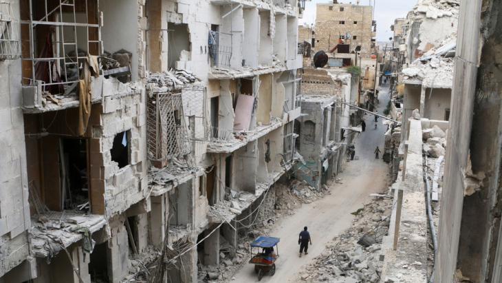 مدينة حلب القديمة المدمرة. Foto: Reuters/A. Ismail