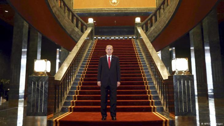 Erdogan in the new Ak Saray presidential palace on the outskirts of Ankara (photo: AFP/Getty Images)
