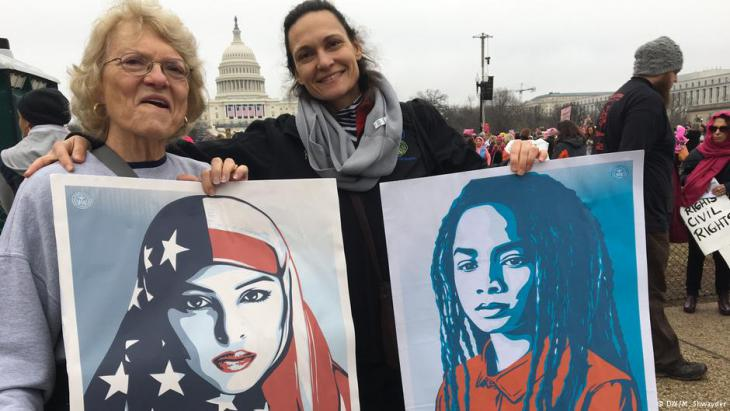 مظاهرة في واشنطن ضد الرئيس ترامب