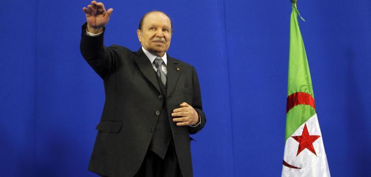 الرئيس الجزائري بوتفليقة. Foto: Quelle: MOHAMED MESSARA/EPA/pa
