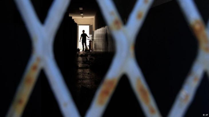 سجن أبو سليم قُرب طرابلس الغرب في أغسطس/ آب 2011.  Foto: AP