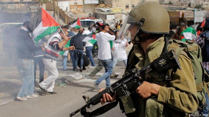 احتجاجات فلسطينية على الاحتلال الإسرائيلي. Foto: Reuters