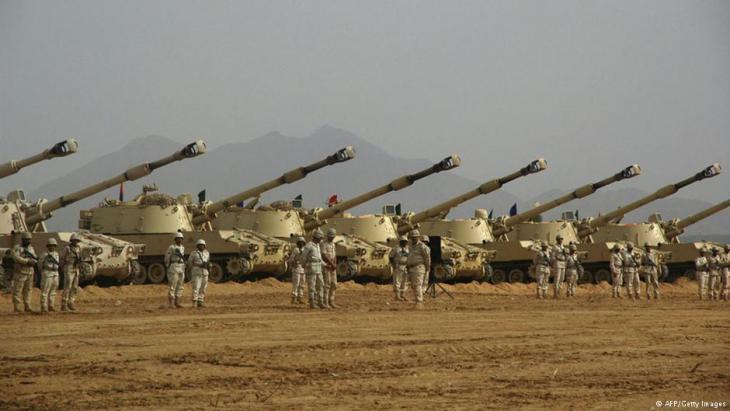 دبابات تابعة للجيش السعودي. Foto: AFP/Getty Images