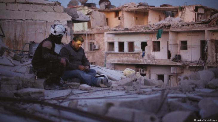 """بدأت في ألمانيا سلسلة عروض خاصة للفيلم الوثائقي السوري """"آخر الرجال في حلب"""". الفيلم نال جائزة سانداس كأفضل فيلم بالعالم عام 2017."""