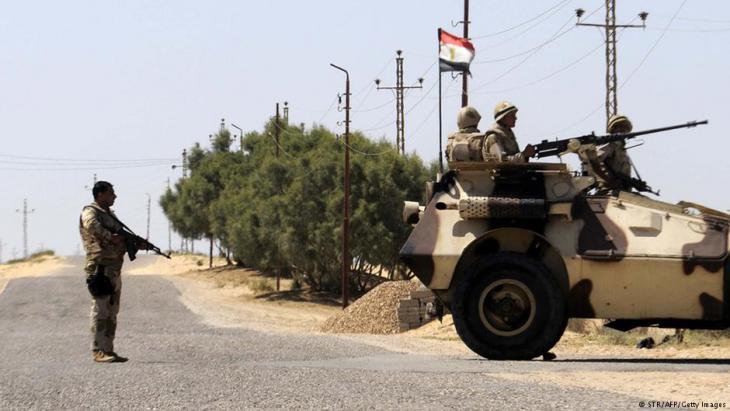 جنود مصريون قرب رفح