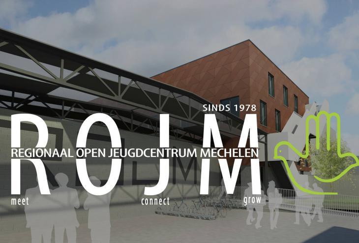 """شعار نادي الشباب """"Rojm"""" وهو نادي الشباب الوحيد في نادي ميكلين البلجيكية.Foto: http://rojm.be"""