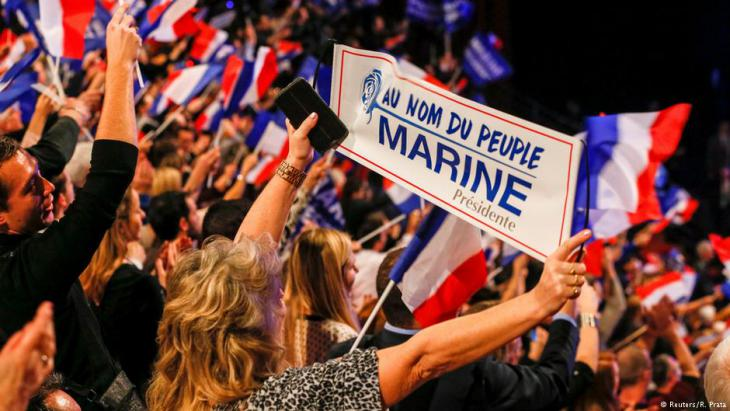 FN-Anhänger in Lyon; Foto: Reuters