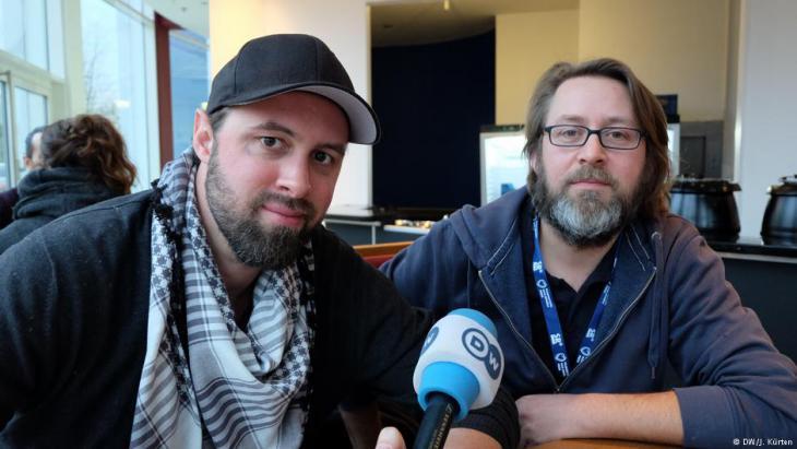 المخرج فيليب غناد ومساعده يامين ميكي