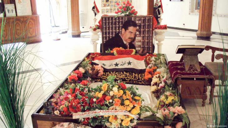قبر صدام حسين في العوجة قبل تدميره