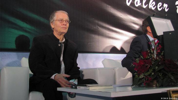 الشاعر فولكر براون كان حاضرا في المعرض الدولي للكتاب في مدينة الدار البيضاء