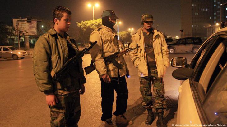 عناصر أمنية مسلحة في طرابلس الليبية