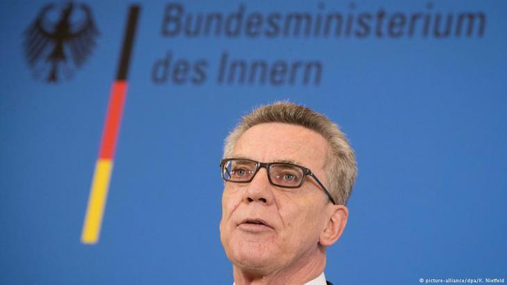 وزير داخلية ألمانيا توماس دي ميزيير. Foto: picture-alliance/dpa