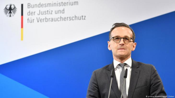 وزير العدل الاتِّحادي الألماني هايكو ماس. Foto: picture-alliance/dpa