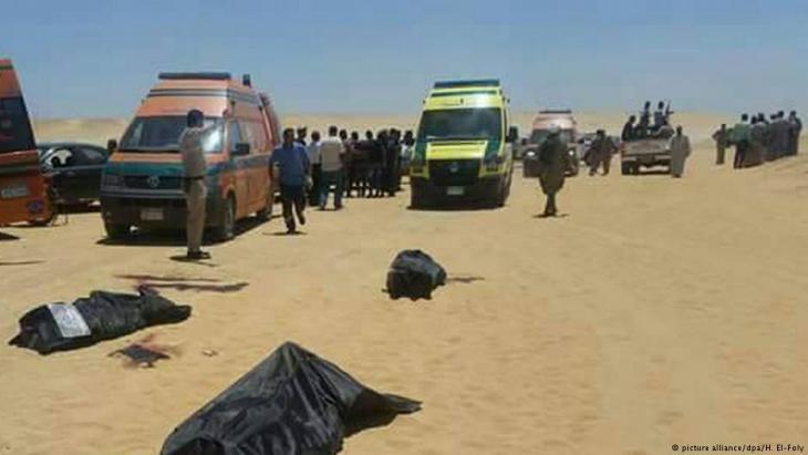 """أدانت ألمانيا الهجوم الذي استهدف حافلة تقل أقباطاً في مصر الجمعة (26 أيار/مايو 2017) وسقط فيه 28 قتيلاً، ووصفت ما حدث بأنه """"نوع من الإرهاب ضد أتباع عقائد مغايرة""""."""