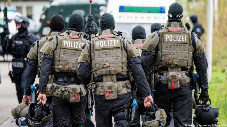 وحدات شرطة ألمانية خاصة في مدينة هامبورغ