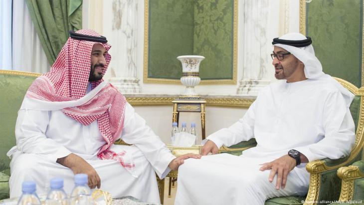 ولي ولي العهد السعودي محمد بن سلمان وولي العهد الإماراتي محمد بن زايد آل نهيان