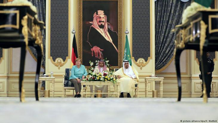 ميركل خلال زيارتها الأخيرة للسعودية
