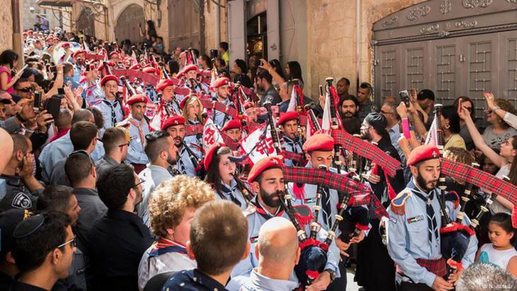 احتفال الأروثودوكس بعيد الفصح في القدس