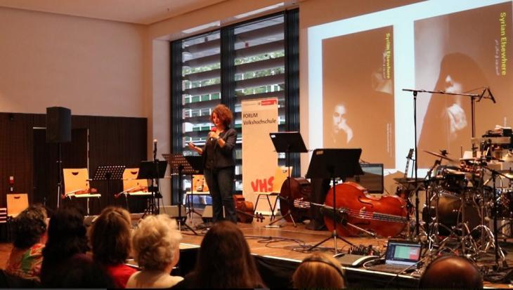 الناشطة السورية رولا أسد. ــJazz meets Oriental Music Köln ـ Ali Almakhlafi ©