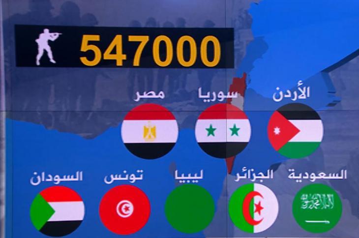 حرب شنتها إسرائيل يوم 5 يونيو/حزيران 1967 على ثلاث من دول جوارها العربي، دامت ستة أيام وهزمت فيها الأطراف العربية هزيمة ساحقة. وكان من نتائجها خسائر بشرية ومادية كبيرة، واحتلال أجزاء واسعة من الأراضي العربية، وتدمير أغلبية العتاد العسكري العربي.