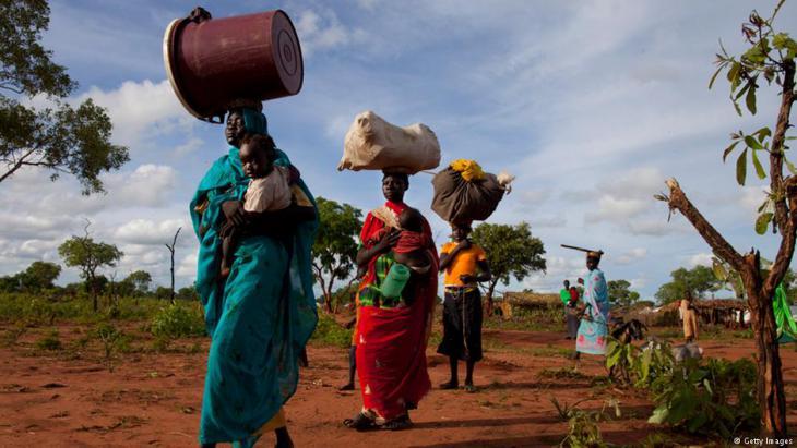 لاجئون من جبال النوبة في محافظة جنوب كردفان على الحدود السودانية مع دولة جنوب السودان. Foto: Getty Images
