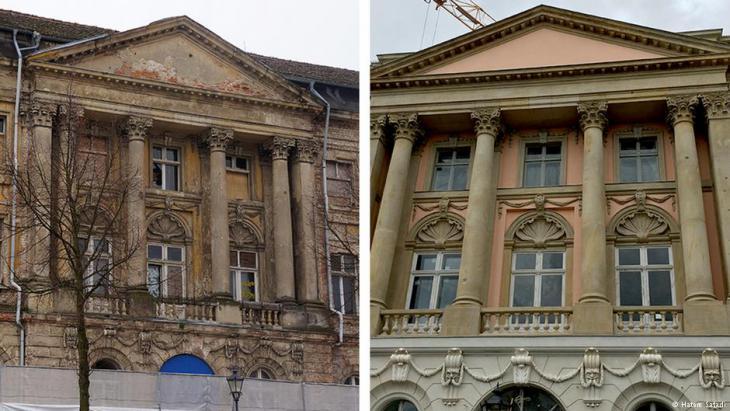 قصر بروكشه قبل وبعد ترميمه من قبل شركة حاتم الصفدي.