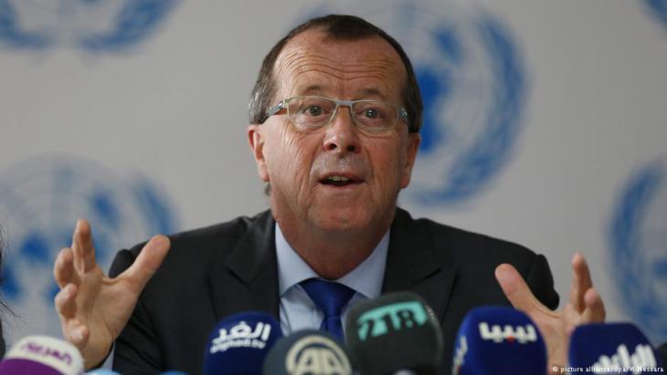 مبعوث الأمم المتحدة السابق إلى ليبيا، مارتن كوبلر في مارس/ آذار 2017