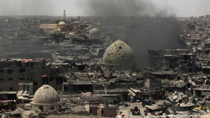 منظر عام لدمار مدينة الموصل القديمة، يوليو 2017. (photo: AHMAD AL-RUBAYE/AFP/Getty Images)