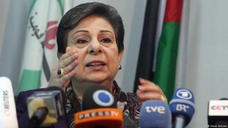 مسؤولة الإعلام والثقافة وعضوة اللجنة التنفيذية لمنظمة التحرير الفلسطينية، حنان عشراوي. Foto: Hanan Aschrawi
