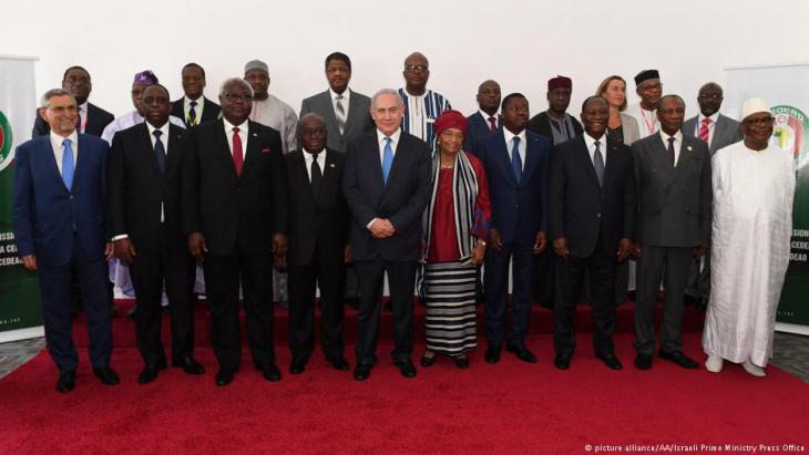 قمة مونروفيا بمشاركة رئيس وزراء إسرائيل