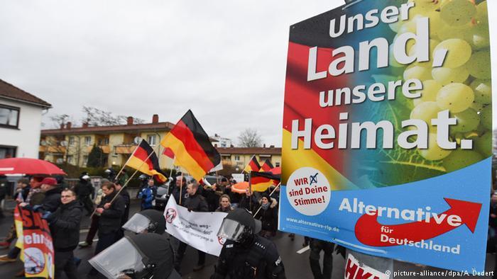 أنصار حزب البديل من أجل ألمانيا. Foto: dpa/picture-alliance