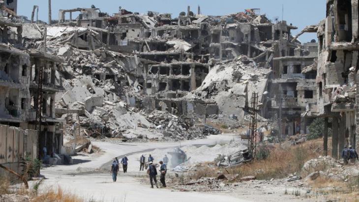 مدينة حمص السورية المدمرة. Foto: Reuters